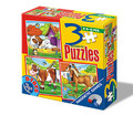 3 PUZZLE MAGNETIC - ANIMALE