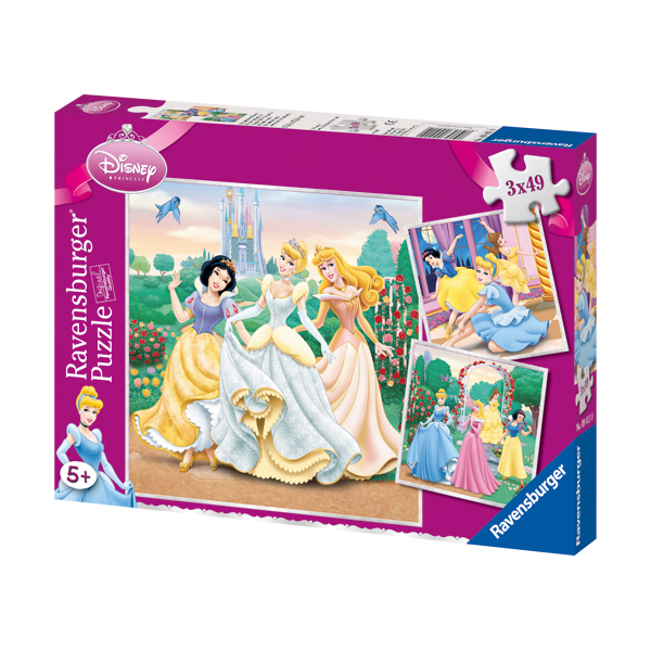 Ravensburg Puzzle 3 in 1, 49 piese DPR Dreams of Princess