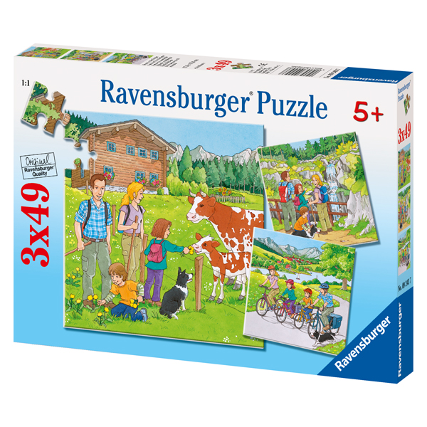 Ravensburger puzzle 3 in 1 49 piese: Family Holidays